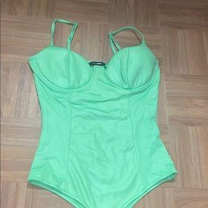 Fashion nova neon green bodysuit